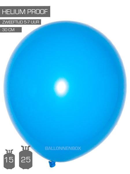 blauwe ballonnen met info