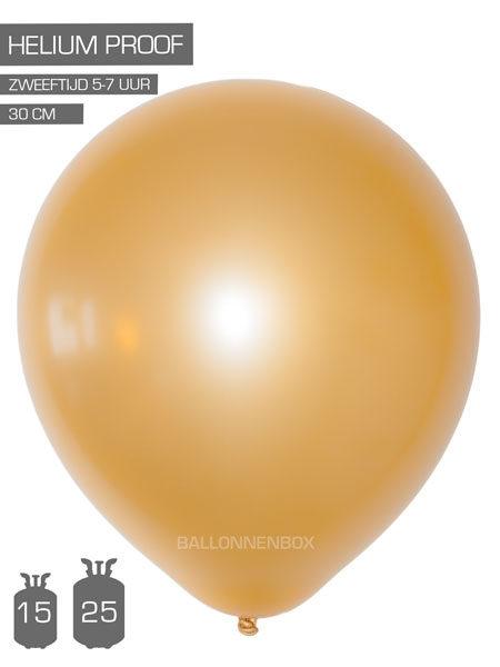 gouden ballonnen met info