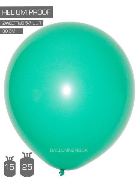 groene ballonnen mint met info