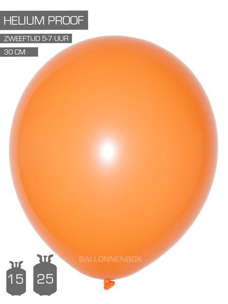 oranje ballonnen met info
