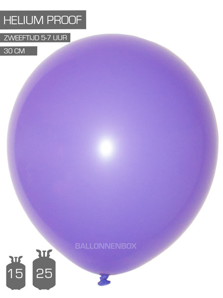 paarse ballonnen met info