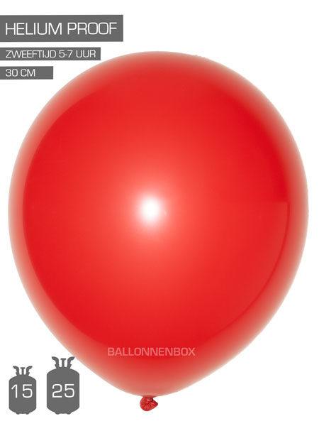 rode ballonnen met info