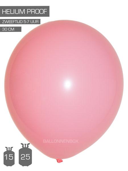 roze ballonnen met info