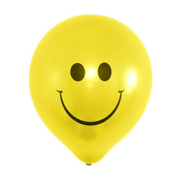 Gele smiley ballonnen