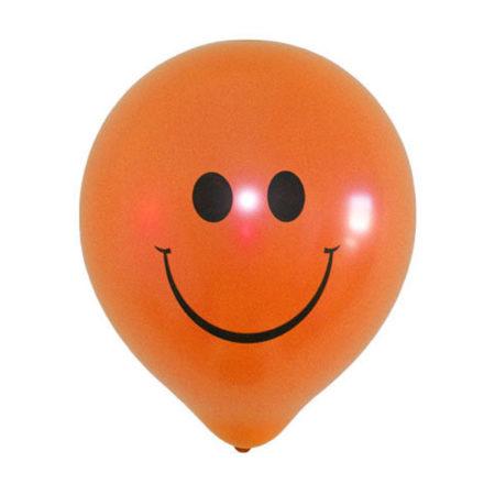Oranje smiley ballonnen