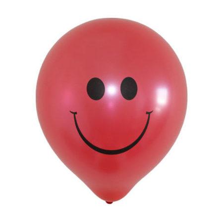 Rode smiley ballonnen