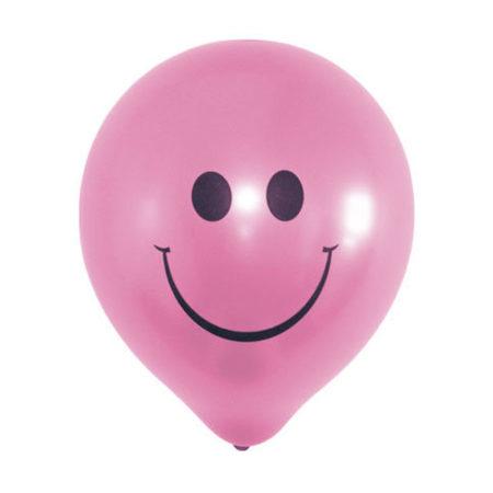Roze smiley ballonnen