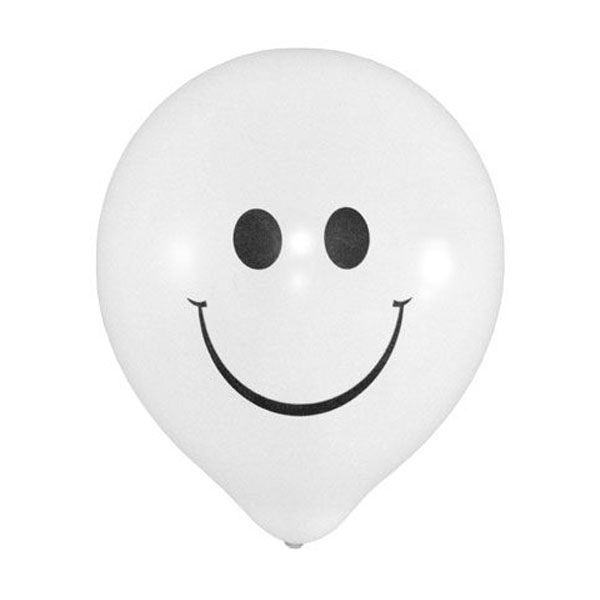 Witte smiley ballonnen
