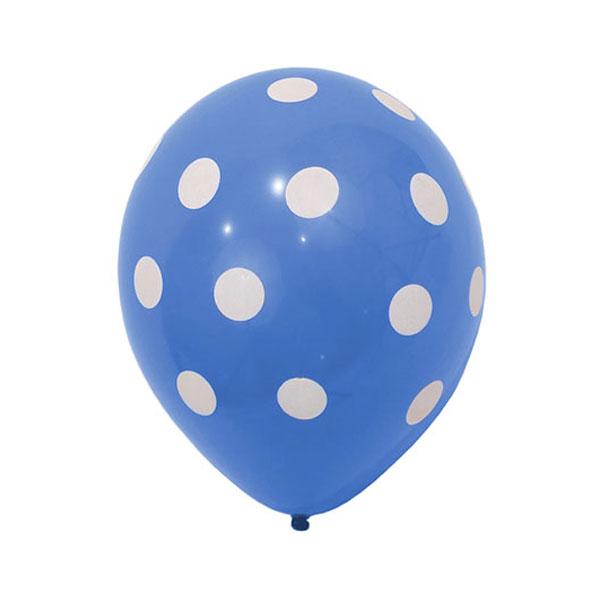 blauwe ballonnen met stippen