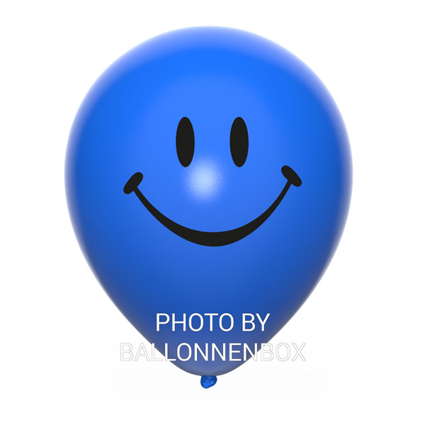 donkerblauwe smiley ballonnen
