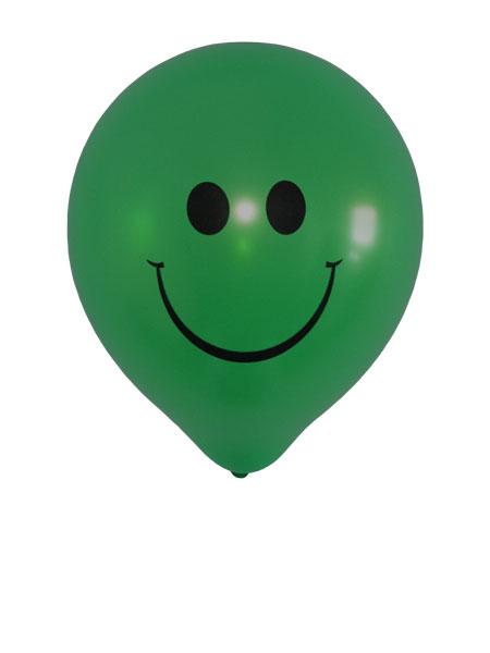 donkergroene smiley ballonnen