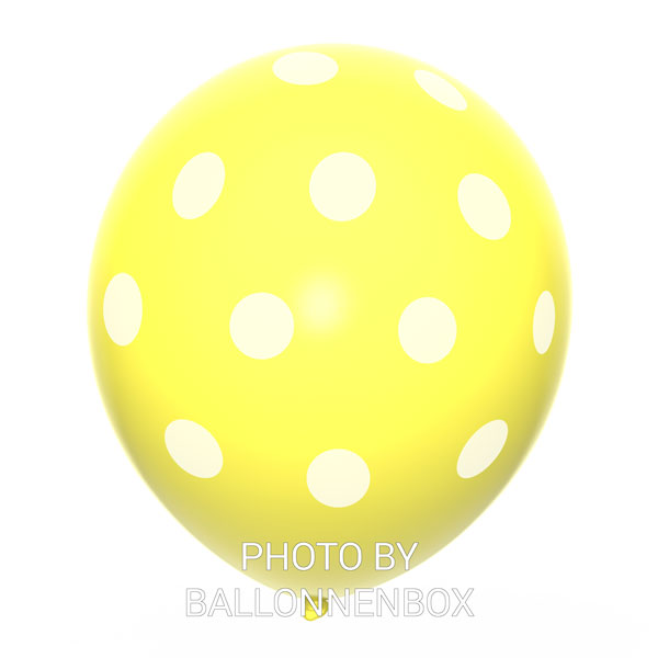 gele ballonnen met stippen