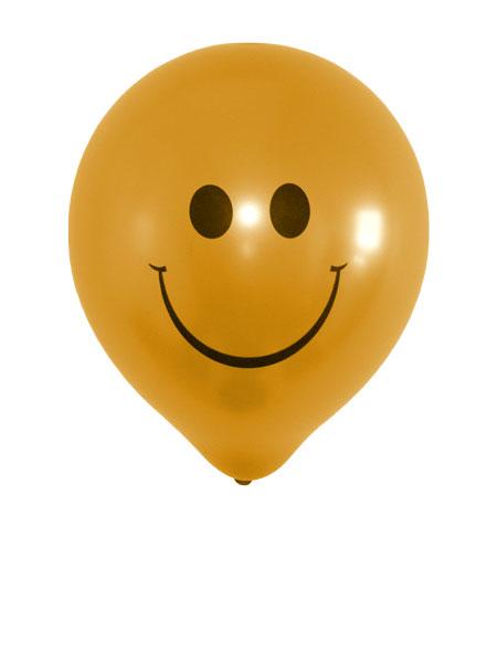 gouden smiley ballonnen