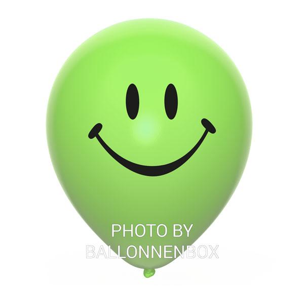 lichtgroene smiley ballonnen