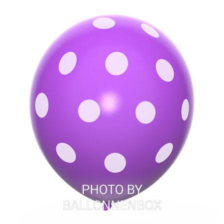 paarse ballonnen met stippen