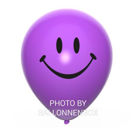 paarse smiley ballonnen