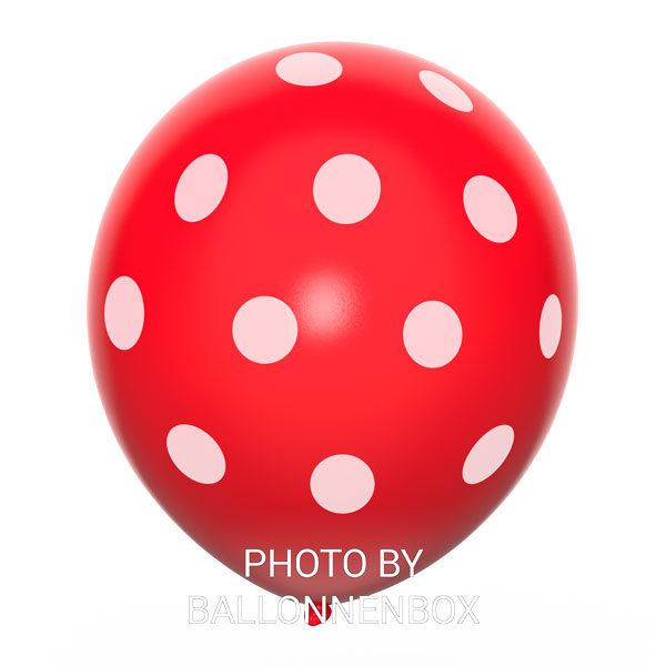 rode ballonnen met stippen