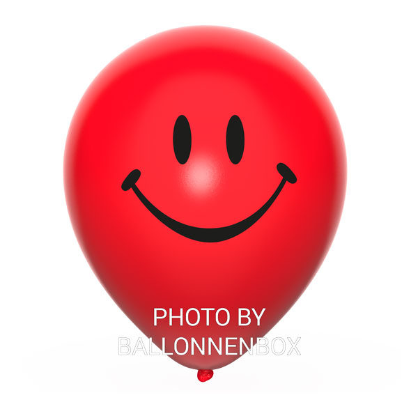 rode smiley ballonnen