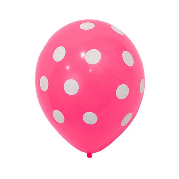 roze ballonnen met stippen