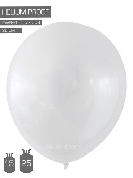 transparante ballonnen met info
