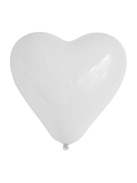 witte hartjes ballonnen