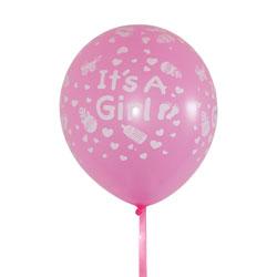 Meisje ballonnen