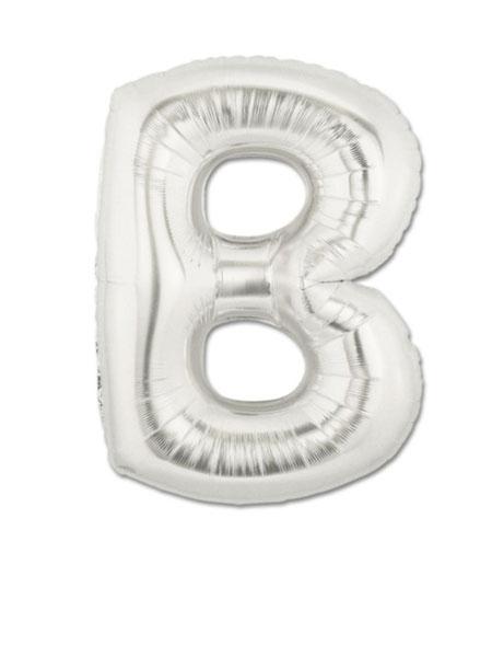 letter b ballonnen zilver