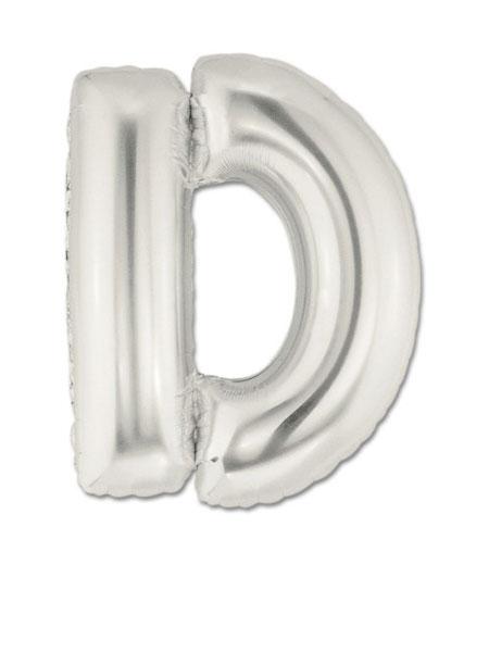 letter d ballonnen zilver