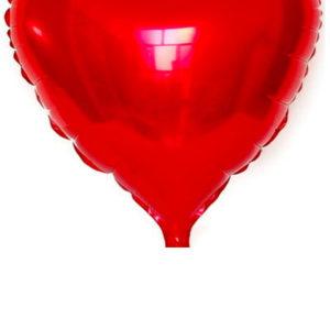 rood hart folie ballon