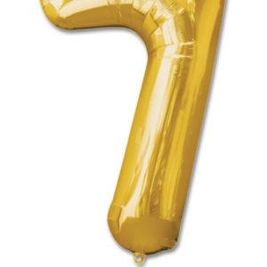 cijfer 7 ballonnen goud