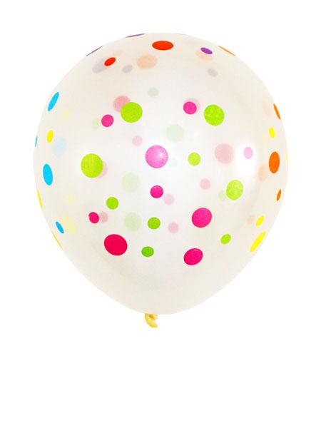 transparante ballonnen met stippen