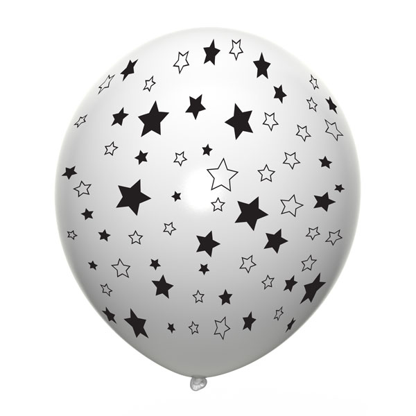 witte ballonnen met sterren