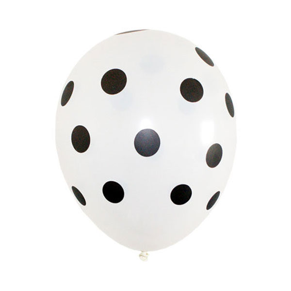 witte ballonnen met stippen