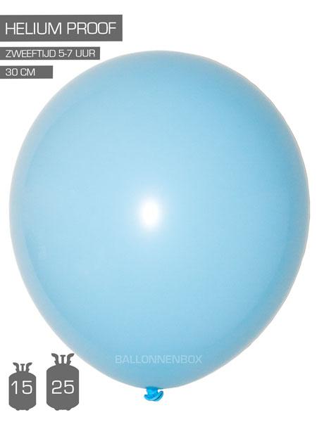 lichtblauwe ballonnen met info