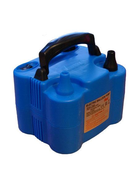 Blauwe elektrische ballonnenpomp