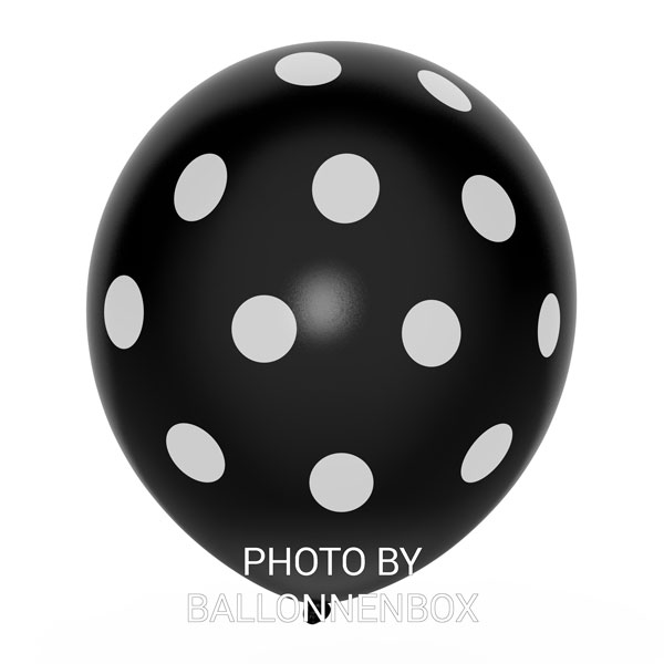 zwarte ballonnen met stippen