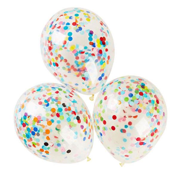 confetti ballonnen multi color
