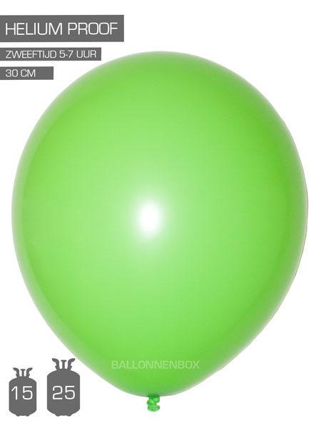 lime groene ballonnen met info