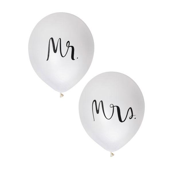 Mr and mrs witte ballonnen