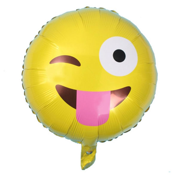 Emoticon knipoog ballon