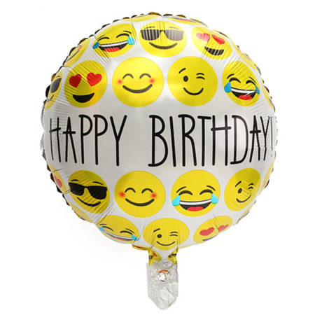 happy birthday smiley ballon