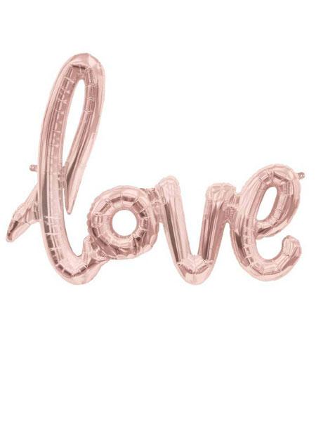 love folieballon rose goud