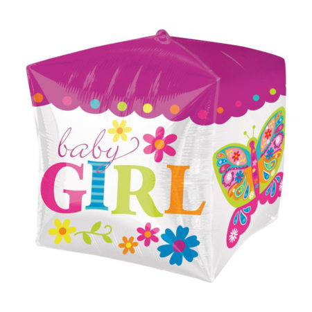 Baby girl kubus folieballon