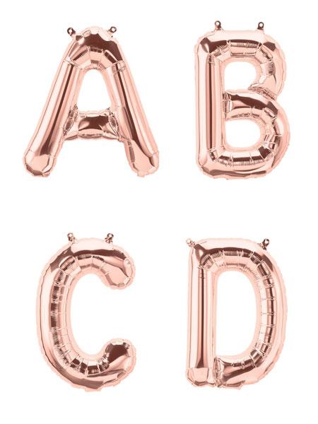 Letter ballonnen rosé goud