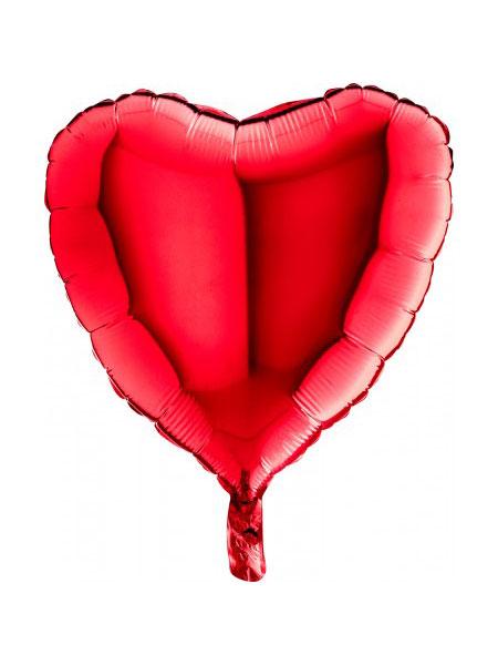 folieballon hart rood