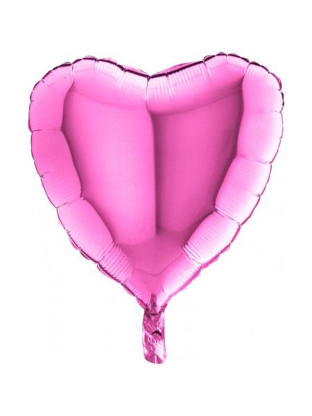 folieballon hart roze