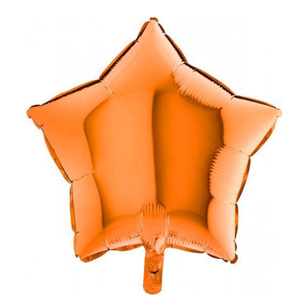 Folieballon ster oranje