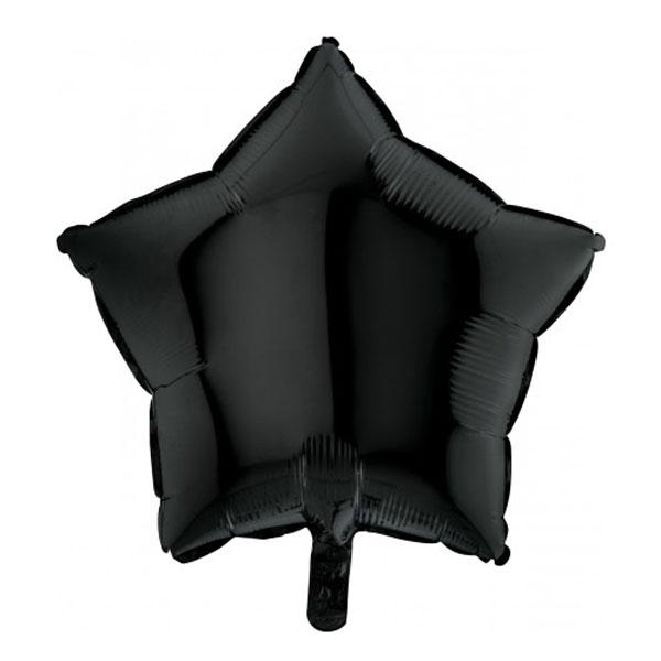 Folieballon ster zwart