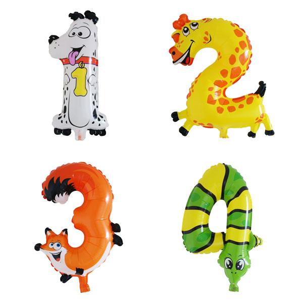 cijfer ballonnen dieren