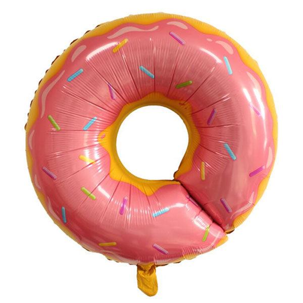 Folieballon donut roze